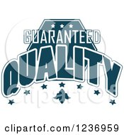 Clipart Of A Blue Quality Label 6 Royalty Free Vector Illustration