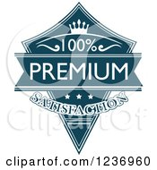 Clipart Of A Blue Quality Label 7 Royalty Free Vector Illustration