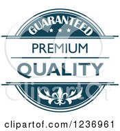 Clipart Of A Blue Quality Label 8 Royalty Free Vector Illustration