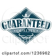Clipart Of A Blue Quality Label 9 Royalty Free Vector Illustration