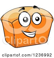 Clipart Of A Happy Bread Loaf Royalty Free Vector Illustration
