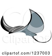 Clipart Of A Stingray Swimming Royalty Free Vector Illustration by Vector Tradition SM