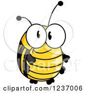 Clipart Of A Cute Bee Or Beetle Royalty Free Vector Illustration by Vector Tradition SM