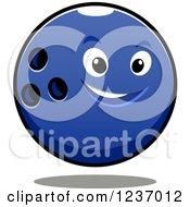 Poster, Art Print Of Tough Blue Bowling Ball Character