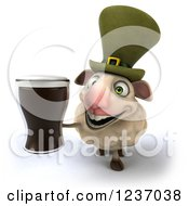 3d Irish Sheep Holding A Beer 2