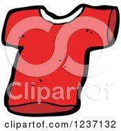 Clipart Of A Red T Shirt Royalty Free Vector Illustration
