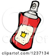 Clipart Of A Red Spray Paint Can Royalty Free Vector Illustration by lineartestpilot