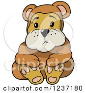 Clipart Of A Sad Teddy Bear Royalty Free Vector Illustration