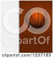 Clipart Of A Basketball Over Brown And White Panels Royalty Free Vector Illustration by elaineitalia