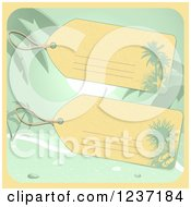 Luggage Tags Over A Beach Scene