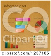 Clipart Of A Set Of Infographic Designs On Brown Paper Royalty Free Vector Illustration by elaineitalia