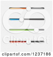 Clipart Of Colorful Slider Buttons Royalty Free Vector Illustration