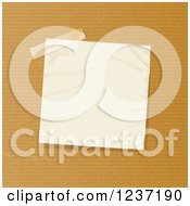 Clipart Of A Taped Crumpled Note Paper On Brown Royalty Free Vector Illustration