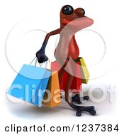 3d Red Springer Frog Carrying Shopping Bags 2