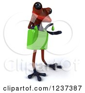 3d Red Springer Frog Carrying A Gas Can Of Biofuel