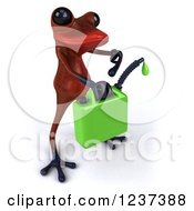 3d Red Springer Frog Carrying A Gas Can Of Biofuel 3