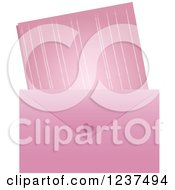Poster, Art Print Of Pink Valentine Envelope And Love Leatter