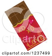 Clipart Of A Valentine Chocolate Bar Royalty Free Vector Illustration