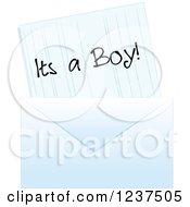 Blue Its A Boy Baby Birth Announcement