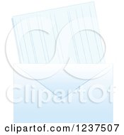 Clipart Of A Blue Envelope And Card Or Letter Royalty Free Vector Illustration