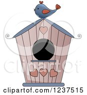 Bird House With Hearts
