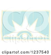 Clipart Of A Mayan Venus Eye Glyph Royalty Free Vector Illustration