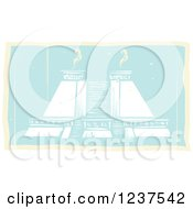 Clipart Of A Mayan Double Pyramid Royalty Free Vector Illustration by xunantunich
