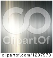 Clipart Of A Brushed Metal Background With Light Reflecting Off One Side Royalty Free CGI Illustration