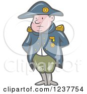 Clipart Of A Cartoon French Military General Napoleon Royalty Free Vector Illustration
