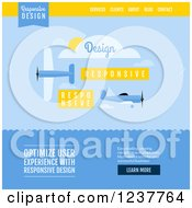 Clipart Of A Plane Responsive Design Website Design Template Vector And Experience Recommended Royalty Free Vector Illustration