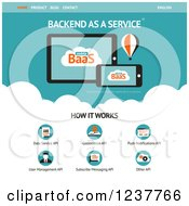 Backend As A Service Website Design Template Vector And Experience Recommended