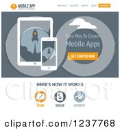 Clipart Of A Mobile Applications Website Design Template Vector And Experience Recommended Royalty Free Vector Illustration