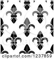 Seamless Black And White Fleur De Lis Background Pattern 9
