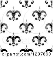 Seamless Black And White Fleur De Lis Background Pattern 8
