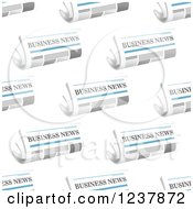 Clipart Of A Seamless Background Pattern Of Business Newspapers Royalty Free Vector Illustration by Vector Tradition SM