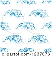 Clipart Of A Seamless Background Pattern Of Blue Ocean Surf Waves 5 Royalty Free Vector Illustration