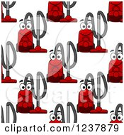 Clipart Of A Seamless Background Pattern Of Red Vacuums Royalty Free Vector Illustration by Vector Tradition SM