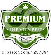 Clipart Of A Green Quality Guarantee Label 2 Royalty Free Vector Illustration