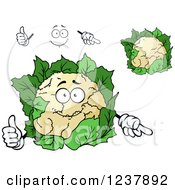 Clipart Of A Happy Cauliflower Royalty Free Vector Illustration
