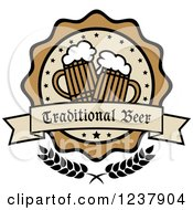 Clipart Of A Traditional Beer Label Royalty Free Vector Illustration by Vector Tradition SM