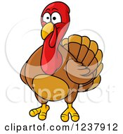 Clipart Of A Turkey Bird Royalty Free Vector Illustration by Vector Tradition SM