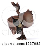 Clipart Of A 3d Happy Owl Wearing Sunglasses And Cartwheeling 2 Royalty Free Illustration by Julos