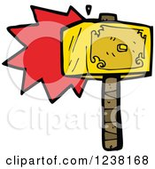 Clipart Of A Hammer Royalty Free Vector Illustration by lineartestpilot