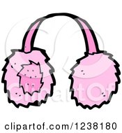 Clipart Of Pink Ear Muffs Royalty Free Vector Illustration
