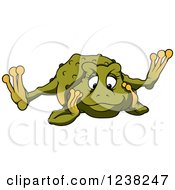 Clipart Of A Female Toad Sprawled Out And Thinking Royalty Free Vector Illustration by dero