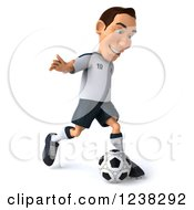 Clipart Of A 3d German Soccer Player In Action 3 Royalty Free Illustration by Julos