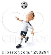 Clipart Of A 3d German Soccer Player In Action 4 Royalty Free Illustration