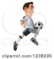 Clipart Of A 3d German Soccer Player In Action 5 Royalty Free Illustration