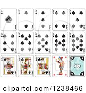 Clipart Of Spade Playing Cards Royalty Free Vector Illustration