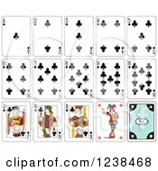 Clipart Of Club Playing Cards Royalty Free Vector Illustration